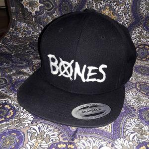BONES skateboarding logo snapback hat